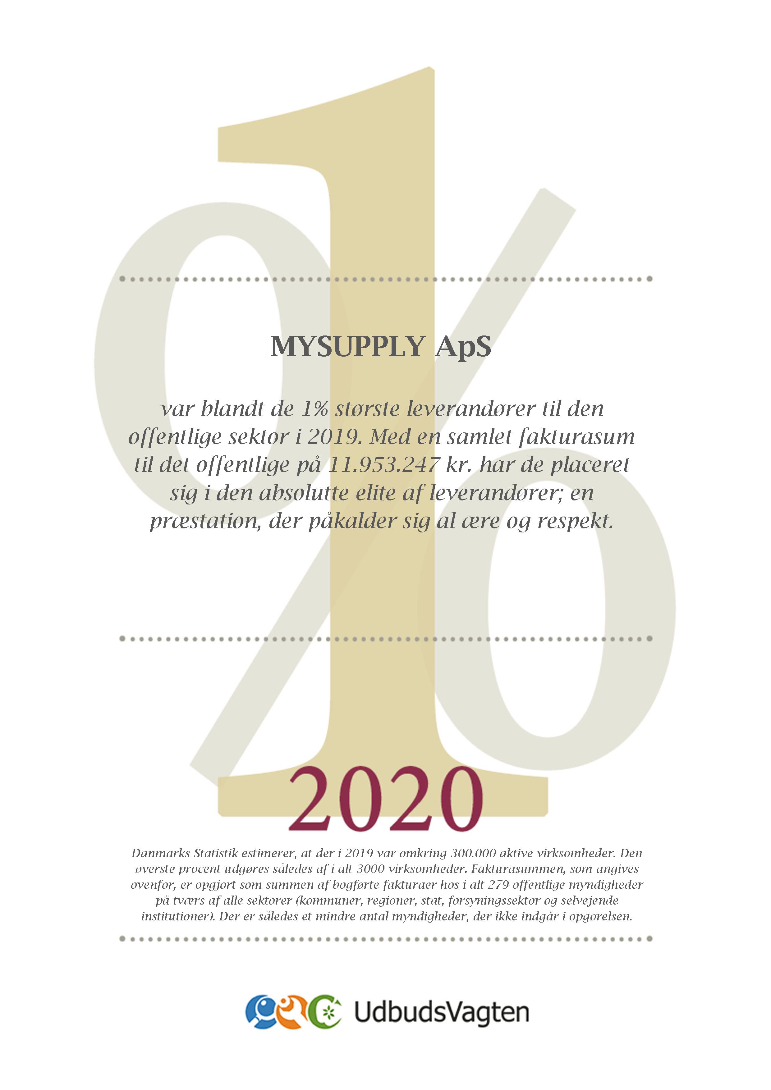 Eliteleverandør 2020_Diplom
